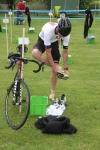T2, transition 2. Växling mellan cykling och löpning.