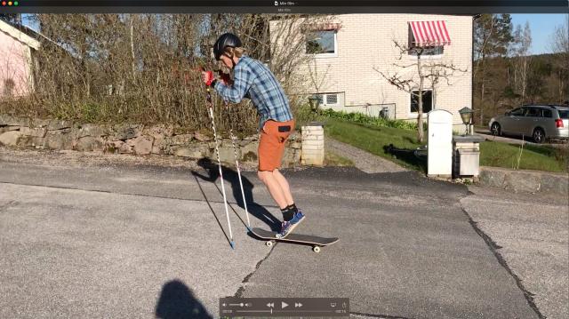 Stakning på skateboard. Se hela klippet i YouTube-kanalen.