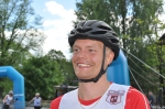 Karl-Johan Westberg efter SM-guldet 20 km F masstart 4 juli 2017. Rullskidor under SM-veckan i Borås.