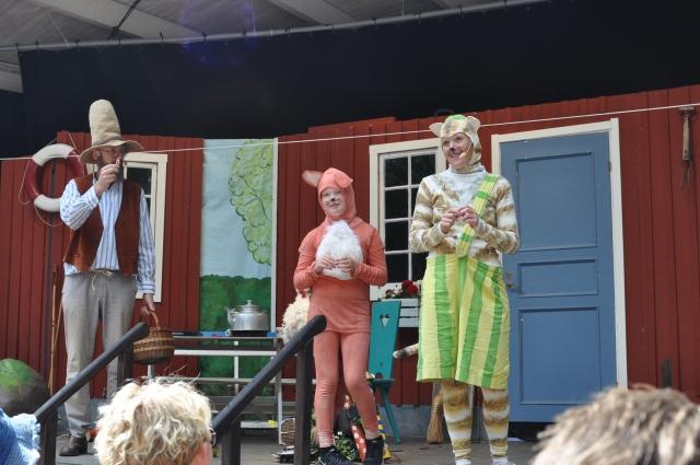 Pettson och Findus på Hembygdsparken i Ängelholm