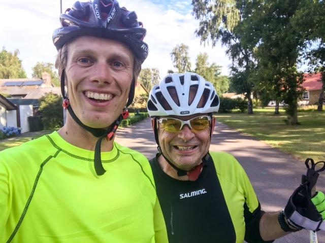 """Lennart Klingberg aka """"Klingan"""" bor i Jonstorp och kom till Vejbystrand tidigt en dag för 75 min morgonstakning"""