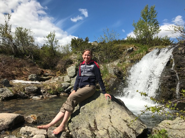 Ida vid Silverfallet i Grövelsjön