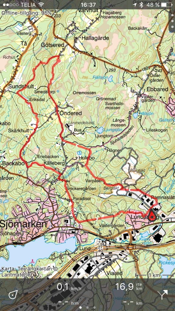 Jag har fortsatt att använda Topp GPS. Väldigt bra app för 39 kr. GPS:en på iPhone 7 är för dålig för att använda för träning (diffar mycket), men tillräckligt bra för att följa en karta.