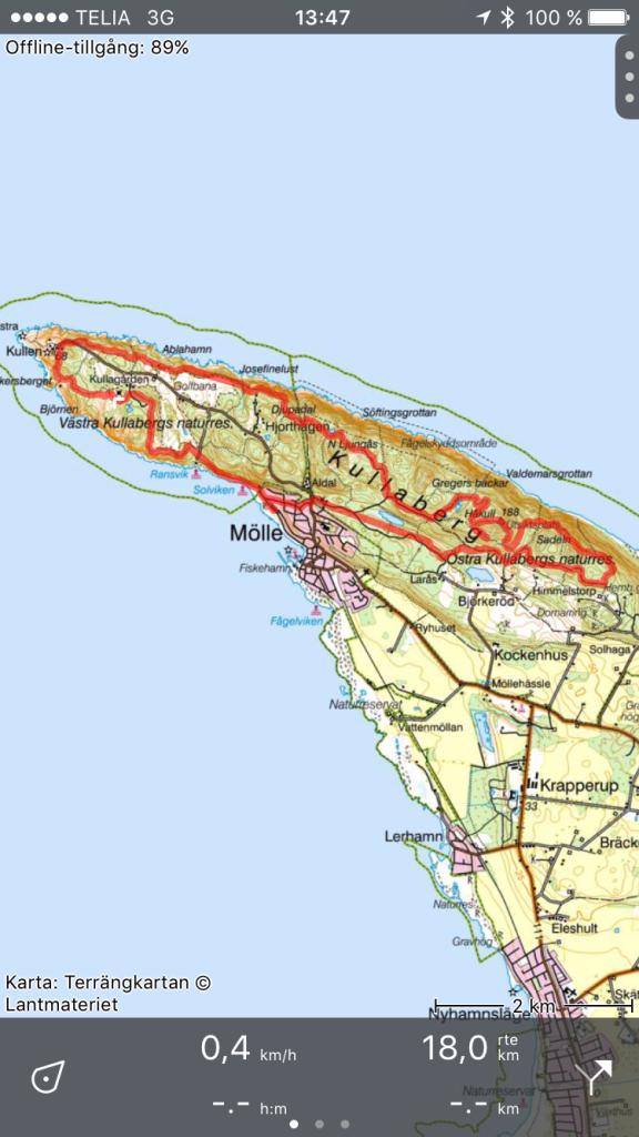 Topo GPS gav 1 km längre löpning än klockan. iPhone 7 hänger inte med i skogen. Den missar stigen flera gånger ser man på kartan. Men oavsett en trevlig app. Denna löptur på Kullen kan jag verkligen rekommendera!