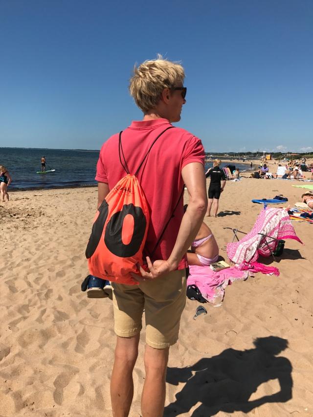 Känns helrätt att ha med Ultravasan-påsen på strand i Vejbystrand