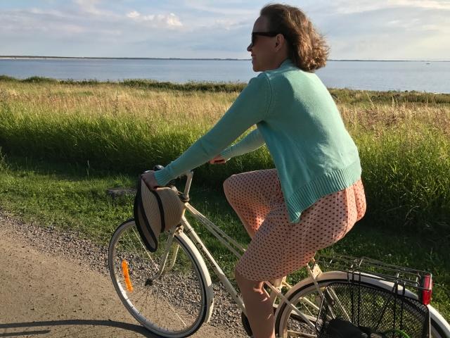 Fin cykling längs havet mellan Vejbystrand och Ängelholm