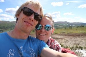 Ida och jag i Grövelsjön