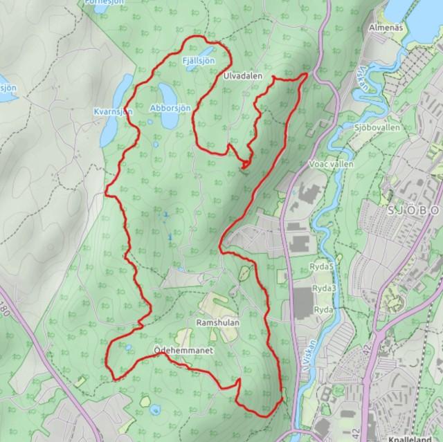 Rya Åsar Trail Run bana karta