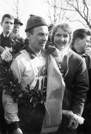 Janne Stefansson efter första segern i Vasaloppet 1962. Foto: Vasaloppet.