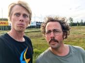 Niklas Bergh och jag på startgärdet i Vasaloppet