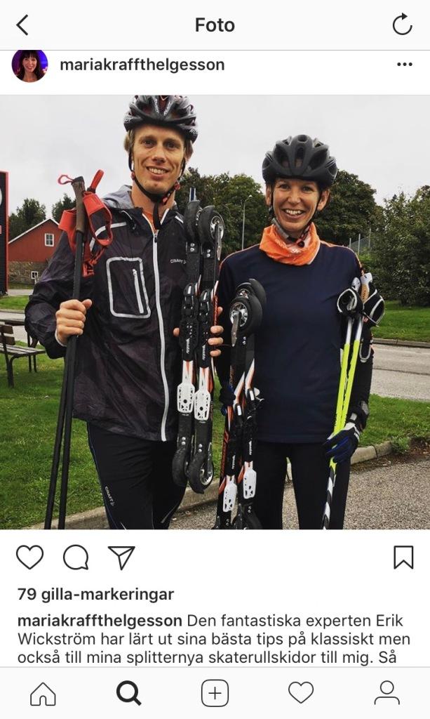 Maria Krafft Helgesson var med bravur general för både O-ringen och SM-veckan i Borås. Nu ska hon bli en fena på att skejta på rullskidor! Bilden är från Instagram, men jag själv har ännu inte blivit så modern att jag använder det mediet.