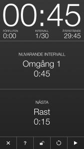 Seconds - Interval Timer för Intervallträning