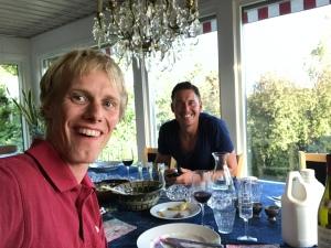 Jonas Colting och jag stöttade Adam Steens skidsatsing med att swisha 100 kr var, vilket mottogs varmt i Borlänge