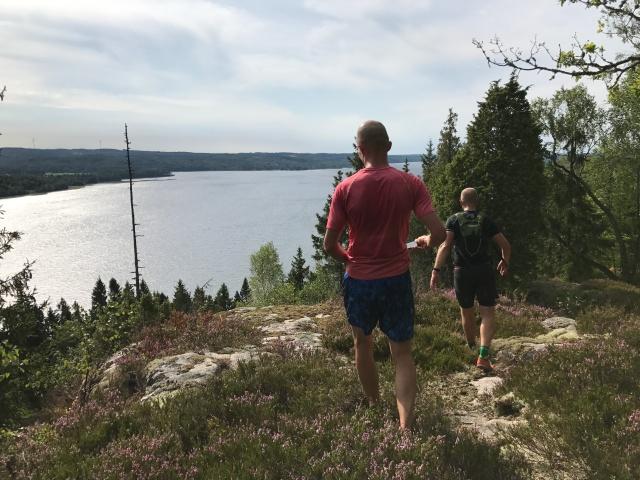 En av många delar vid fin utsikt över Åsunden