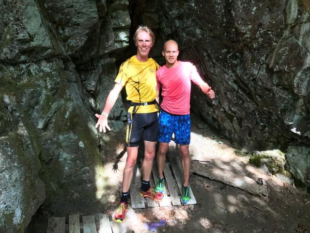 Mattias Skoog och jag vid Alhammars grottor nära vändningen