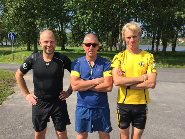 Patrik Boman, Stefan Carlsson och jag efter avslutad tur