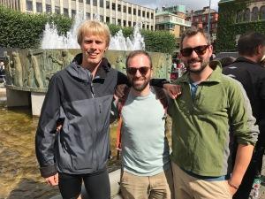 Jag, Danny Slakey och Jerred i centrala Borås