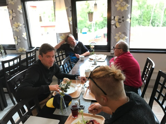 Rasmus Blom, Råland Strid, Tom-William Lindström och pappa Vikman