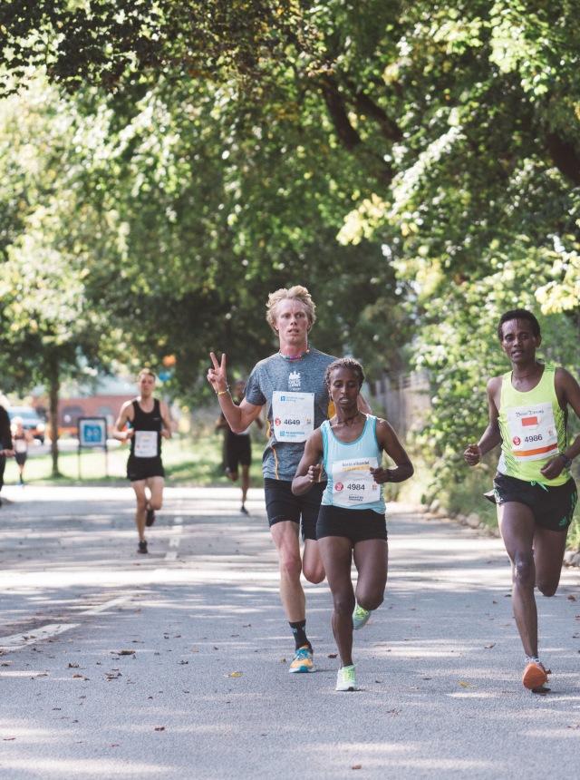 Kretsloppet 2017 efter ca 3 km. Foto: Love Ljungström.
