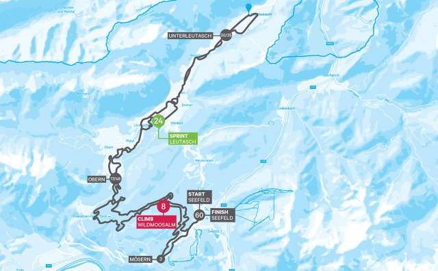 Karta Kaiser Maximilian Lauf. Course map Kaiser Maximilian Lauf.