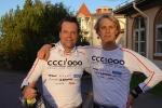 """Carl-Fredrik """"Frippe"""" Ljung och jag efter 5 km löpning vid Selma Spa"""