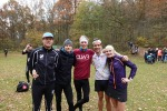 Simon Grenlöv, Martin Damm, Erik Wickström, Rickard Bergengren och Marika Sundin efter Rya Åsar Trail Run 2017