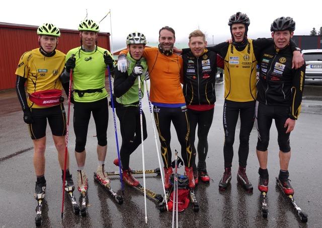 Linus Nygren, Mattias Nygren, Gustaf Ljungberg, John Enander, Jesper Nilsson, jag och Martin Gotting