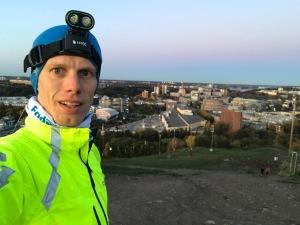Jag kom en halvtimme tidigare för att reka lite. Fin utsikt från Hammarbybacken även denna dag.