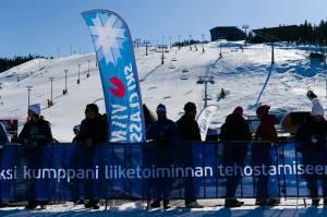 Skidspåret nedanför alpinbackarna i världscuporten Levi. Foto: Magnus Östh.