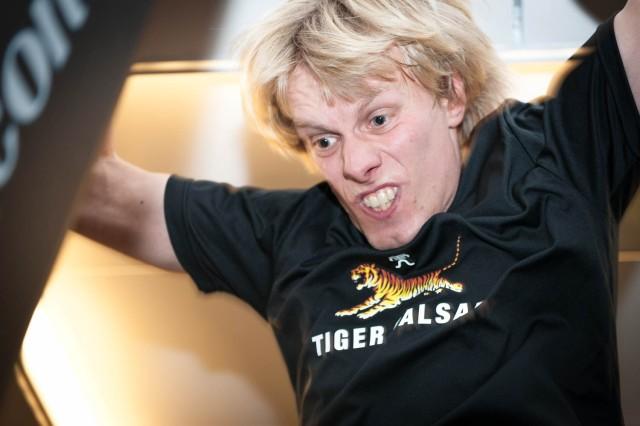 Så här ser jag ut när jag tar i när jag kör SkiErg. Foto: Göran Digné.