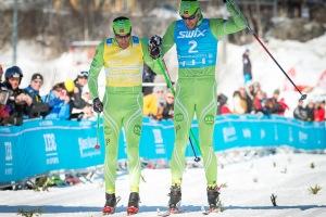Bröderna Aukland, Ander och Jørgen, delar segern i Årefjällsloppet 2013. Foto: Magnus Östh.