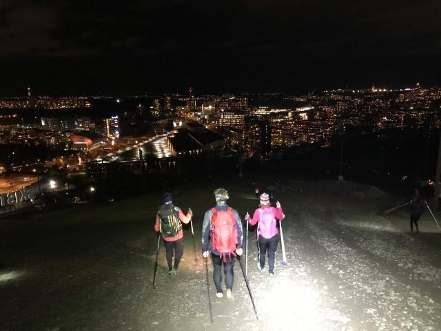 Andra skidgångsgänget. Pure Skitouring i Hammarbybacken.