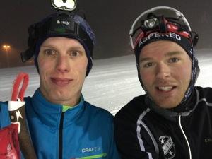 Det blev totalt 2 timmar egen träning i Idre i helgen. Och så stod jag många timmar på skidorna vid instruktioner och räknar lite träningstid även därifrån. Här åkte jag lite med boråsaren Doktor Grenlöv (Simon Grenlöv, tidigare Larsson), vars föräldrar har stuga i Idre.
