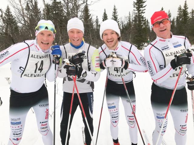 Sjur Jensen, Magnus Svensson, Gustaf Johansson och Anders Backmann.