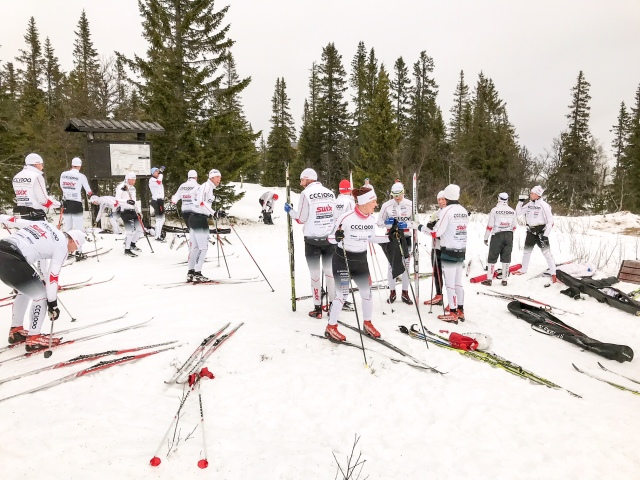 Storhognas 8 km-spår (som är ca 9 km) passerar toppen av Klövsjö