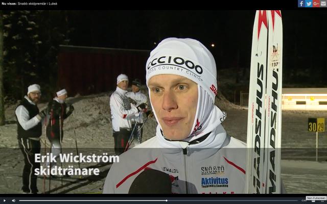 Videoinslag på Norrbotten-Kuriren med CCC1000 på Ormberget i Luleå