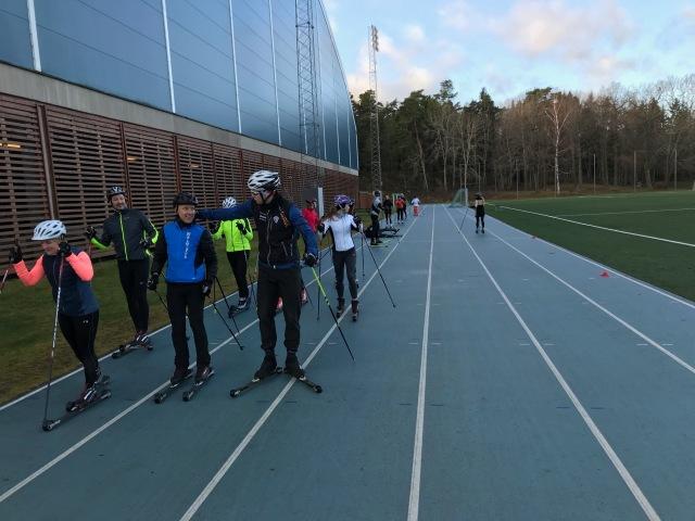 Löparbanan var perfekt för ändamålet vid Enduarance PT-utbildningen på Bosön.