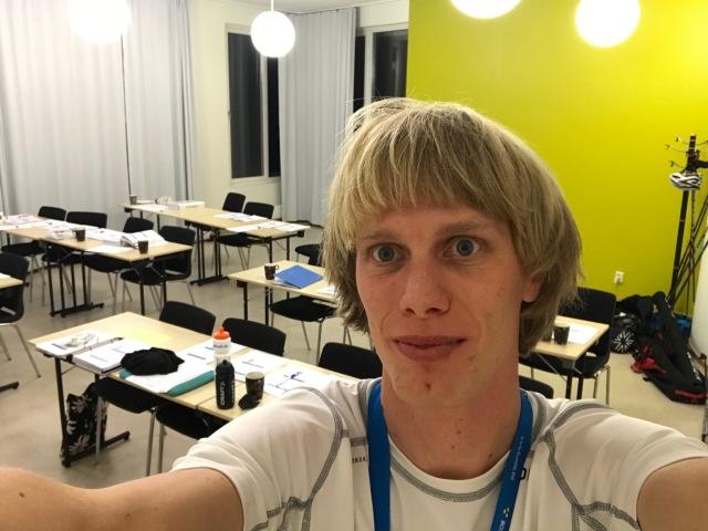 Endurance PT-utbildning på Bosön. Lugnet efter stormen i föreläsningssalen.