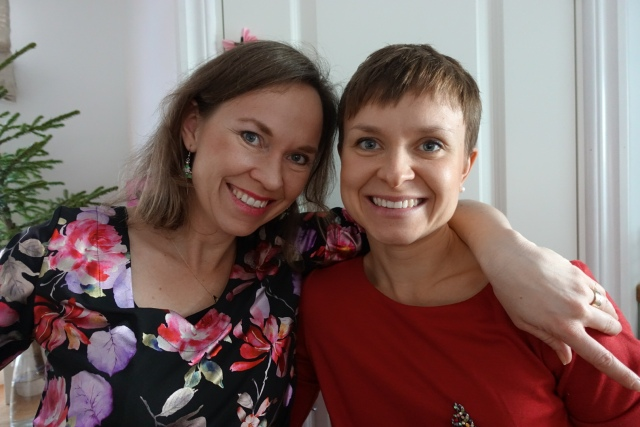 Ida med min lillasyster Åsa Nilsson