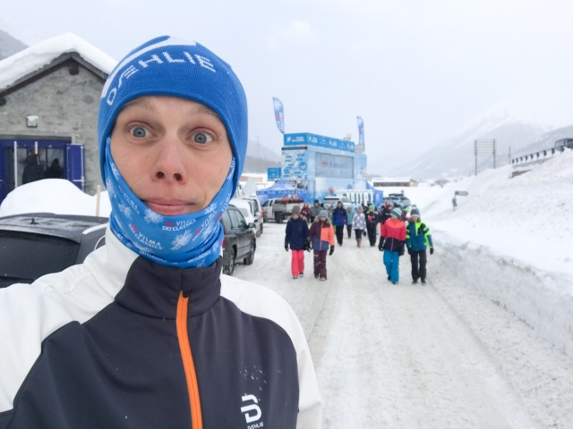 Dählie är sponsor till Visma Ski Classics så de som jobbar med cupen blir uppklädda