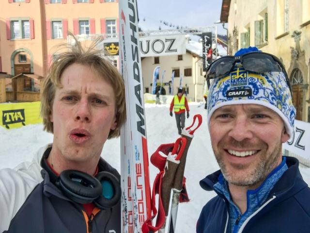 Kul att åka en mil med svensken Isak Ahlblom