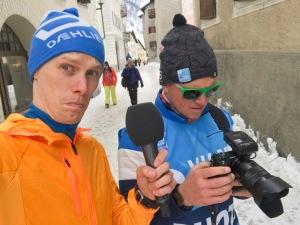 Tom-William Lindström aka T-W skötte ljudet när jag intervjuade Britta för Sveriges Radio