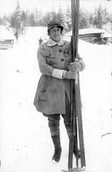 Margit Nordin, första kvinnan i Vasaloppet (1923). Foto: Vasaloppet.