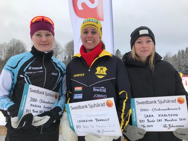 Marika Sundin, Catharina Ramhult och Gnosjö på damernas prispall
