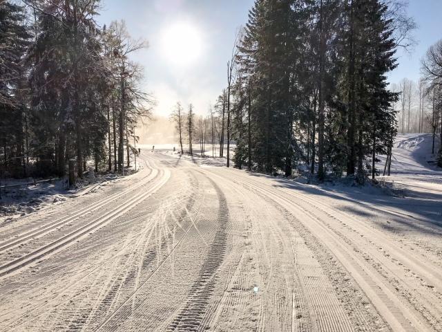 Borås skidstadion 5 februari 2018. Typiskt boråsväder.