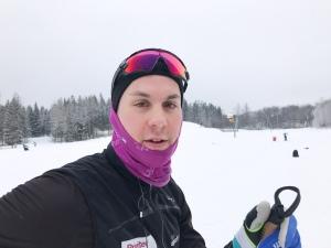 Anton Lindblad på Borås skidstadion. Han kommer från Landvetter och bor i Östersund.