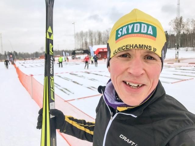 Gustaf Ljungberg inför starten av Västgötaloppet 2018