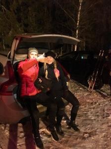 Jag hade ett skidevent i Bålsta i måndags med ett företag. Extra kul att hjälpa denna tjej som ALDRIG hade stått på ett par längdskidor tidigare. Det gick fint.