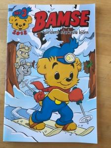 Bamsetidning med skidåkare på omslaget. Nummer 3-2018. Tidningen ges ut 20 gånger per år.