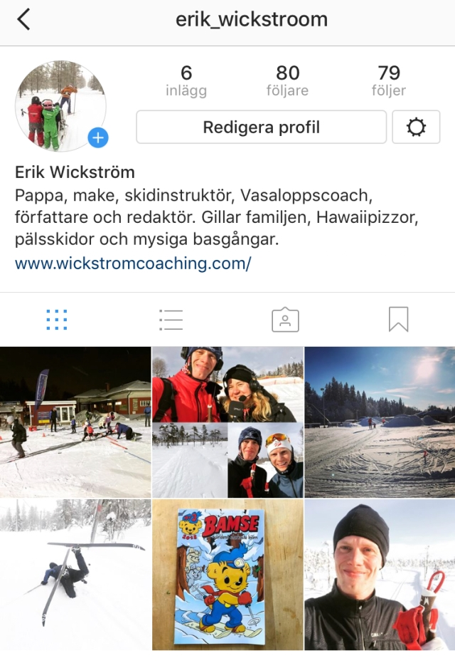 Följ mig gärna på Instragram @erik_wickstroom